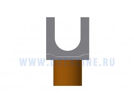 Лоток водоотводный бетонный DRENLINE Standart DN100 h190 с вертикальным водосливом